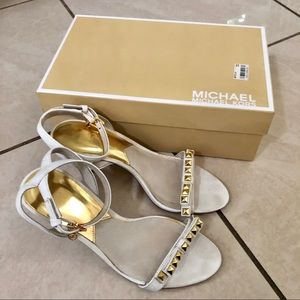 Michael Kors White Jewel Strappy Heels